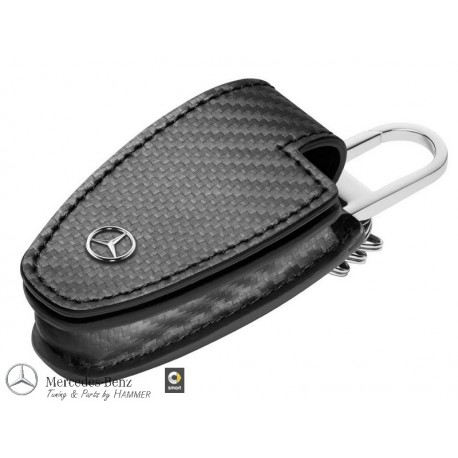 Original Mercedes Benz Schlüsseletui Schlüsselhülle Schlüsseltasche carbon