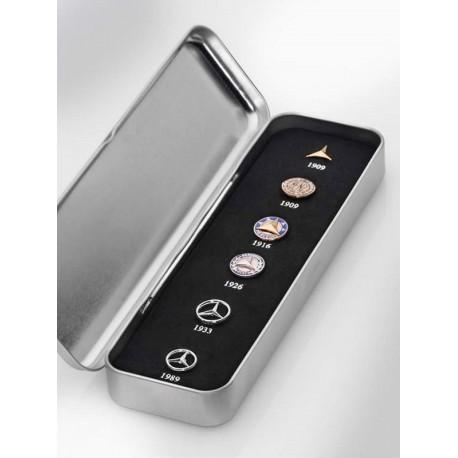 Original Mercedes-Benz Anstecknadel Pin classic historische Sterne silber