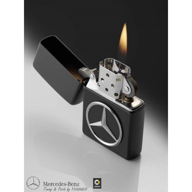 original mercedes benz zippo feuerzeug schwarz made in usa. Black Bedroom Furniture Sets. Home Design Ideas