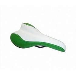 Original smart ebike Sattel grün / weiß