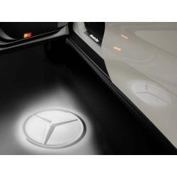 Original Mercedes-Benz LED Projektor Stern Satz 2 teilig Vordertüren