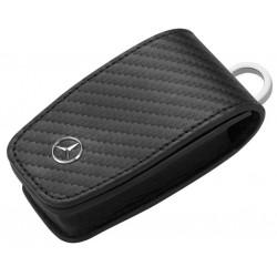 Schlüsseletui, Generation 6, Rindleder / Edelstahl, carbon - Original Mercedes-Benz