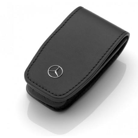 Schlüsseletui, Generation 6 Rindleder / Edelstahl, schwarz - Original Mercedes-Benz