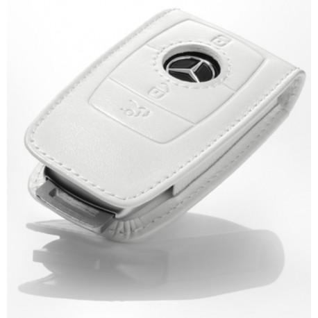 Schlüsseletui, Schlüsselsleeve, Generation 6 Rindleder, weiß - Original Mercedes-Benz