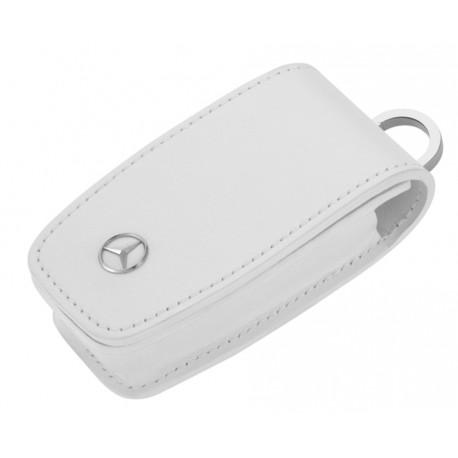 Schlüsseletui, Generation 6, Rindleder / Edelstahl, weiß - Original Mercedes-Benz
