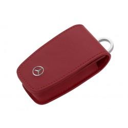 Schlüsseletui, Generation 6, Rindleder / Edelstahl, rot - Original Mercedes-Benz