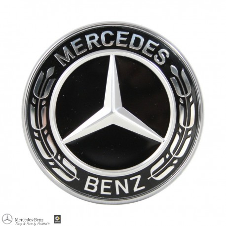 Original Mercedes-Benz Emblem für Motorhaube schwarz C Klasse W205 205