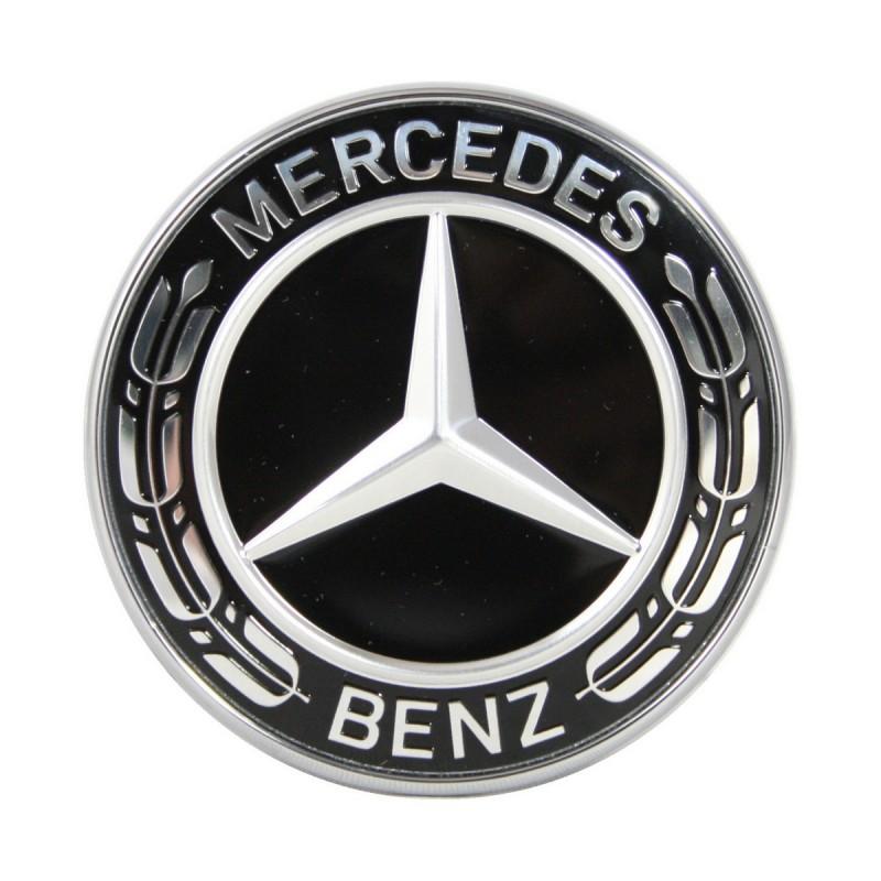 original mercedes benz emblem f r motorhaube schwarz c e. Black Bedroom Furniture Sets. Home Design Ideas