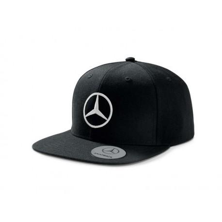 Original Mercedes-Benz Flat Brim Basecap Cap Mütze schwarz