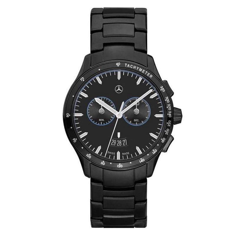 original mercedes benz chronograph armbanduhr business black edition. Black Bedroom Furniture Sets. Home Design Ideas