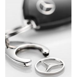 2x Mercedes-Benz Schlüsselanhänger, Einkaufs Chip, Einkaufswagen, Stern