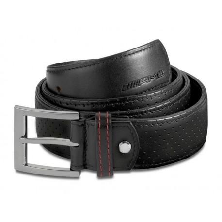 Original Mercedes-Benz AMG Gürtel schwarz / rot Handmade in Germany