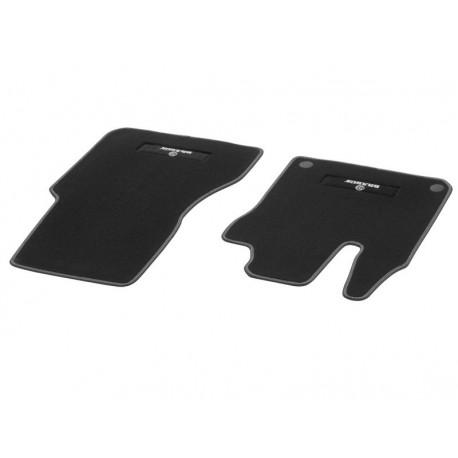 Original smart fortwo forfour 453 BRABUS Fußmatten vorn Velour schwarz, Nähte silber