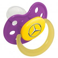 Original Mercedes-Benz Schnuller lila Kunststoff Silikon Größe 1 - für Babys
