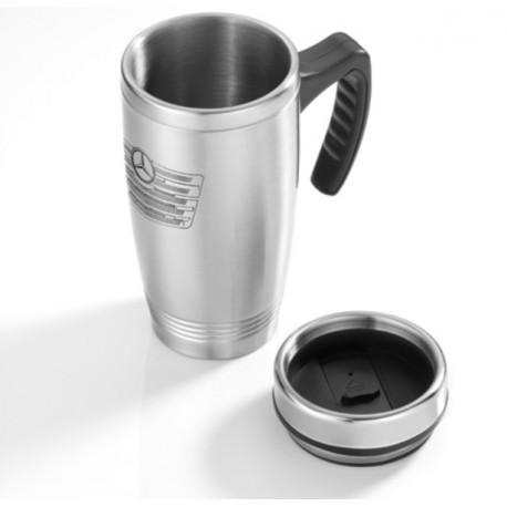 Original Mercedes-Benz Thermobecher, Isolierbecher, Trinkbecher - silberfarben, Edelstahl