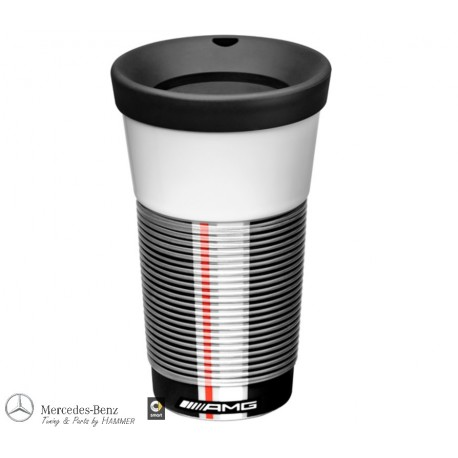 Original Mercedes-Benz AMG Thermobecher, Coffee2Go Becher weiß, Porzellan