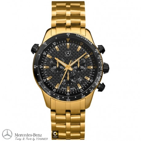 Original Mercedes-Benz Chronograph Herren, Motorsport, Gold Edition swiss made