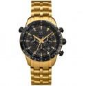 Original Mercedes-Benz Chronograph Armbanduhr, Uhr, Motorsport, Gold Edition