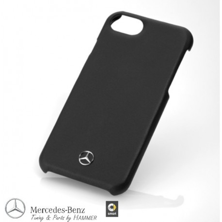 Original Mercedes-Benz Hülle Case iPhone 7 / iPhone 8 schwarz, Kunststoff / Rindleder