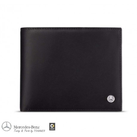 Original Mercedes-Benz Geldbörse Geldbeutel schwarz Business Kalbsleder
