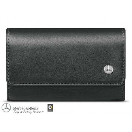 Original Mercedes Benz Schlüsseletui Schlüsselhülle Leder schwarz
