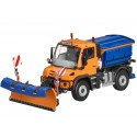 Original Mercedes-Benz Unimog, U430, Winterdienst orange, NZG, 1:50 Modellauto