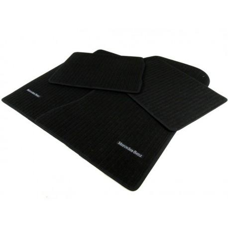 Original Mercedes Benz Fussmatten Fußmatten Satz W/S 124 Rips schwarz