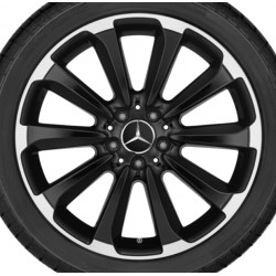 Original Mercedes-Benz Felge C-Klasse 205 10-Speichen-Rad 19 Zoll glanzgedreht - hinten