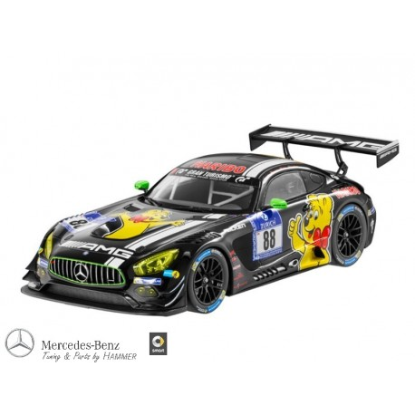 Original Mercedes Benz Modellauto GT 3 AMG Haribo Racing Team 1:18 schwarz Norev