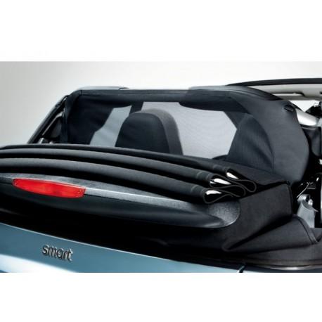 Original smart 451 fortwo Cabrio schwarz Windschott Wind Schutz