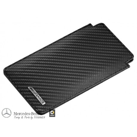 Original Mercedes-Benz AMG Hülle Case iPhone 6 / iPhone 6s schwarz Carbon