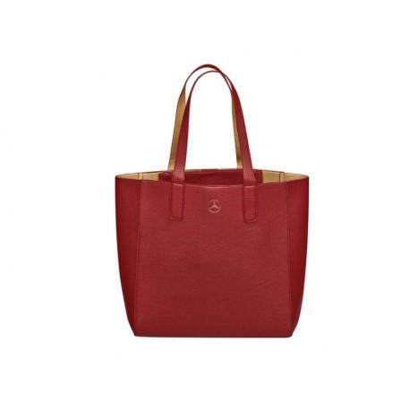 Original Mercedes-Benz Shopper Tragetasche Schultertasche rot / goldfarben