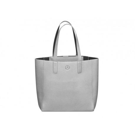Original Mercedes-Benz Shopper Tragetasche Schultertasche silber / schwarz