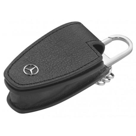 Original Mercedes-Benz Schlüsseletui Schlüsseltasche schwarz Rindleder