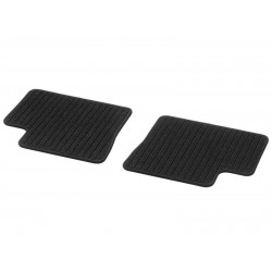 Original smart 453 forfour Fußmatten Rips hinten 2-teilig schwarz