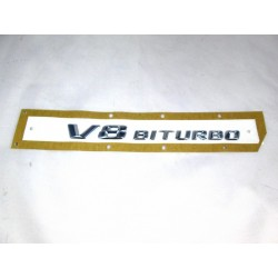Original Mercedes-Benz V8 Biturbo Schriftzug Typzeichen Kleber Emblem