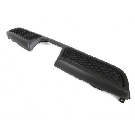 Original smart BRABUS 450 Heckeinsatz Heckschürze schwarz für BRABUS Sportauspfuff