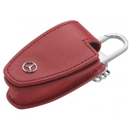 Original Mercedes Benz Schlüsseletui Schlüsselhülle Schlüsseltasche rot