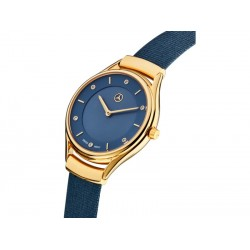 Original Mercedes Benz Armbanduhr Damen Fashion Gold Blau B66953564