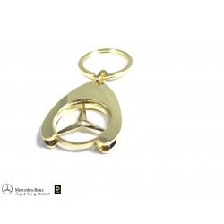 Orig. Mercedes-Benz Schlüsselanhänger Einkaufs Chip Einkaufswagen Stern gold