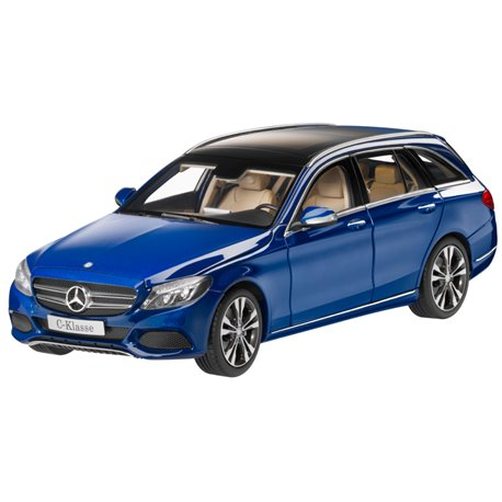 Original Mercedes-Benz Modellauto C-Klasse Kombi brillantblau 1:18 Norev x