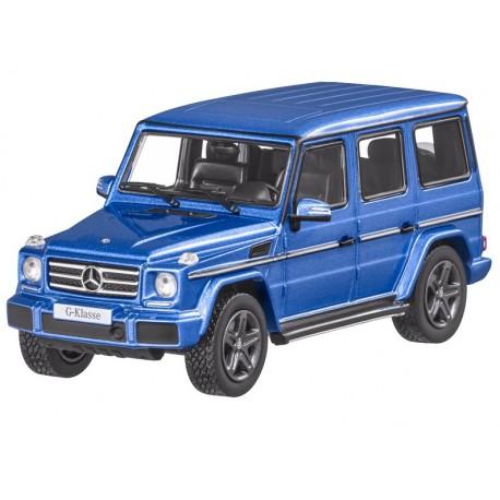 Orig. Mercedes-Benz G-Klasse W463 Modellauto mauritiusblau Norev 1:43 B66961017 x