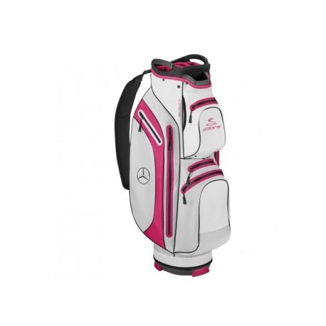 Original Mercedes-Benz Golf-Cartbag Golfbag Golftasche weiß / fuchsia B66450386