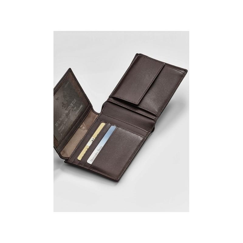 Original Mercedes-Benz Geldbörse Geldbeutel schwarz Rindleder