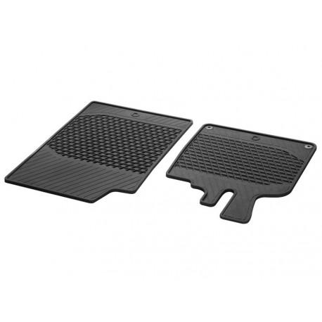 Orig. smart 451 Fußmatten Allwettermatten Gummimatten Satz 2-teilig schwarz