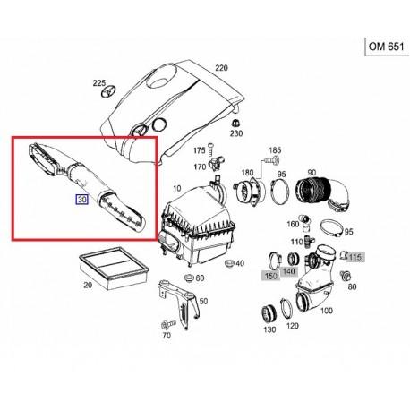 Original Mercedes-Benz Ansaugrohr Luftschlauch Rohr OM651 A6510900000