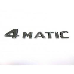 Original Mercedes-Benz 4 Matic Schriftzug für Heckklappe selbstklebend Chrom
