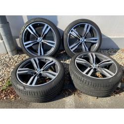 """4x BMW Kompletträder, Felge 20"""" Zoll - Pirelli P-Zero Original M 245/40 + 275/35 630D 7er"""