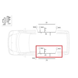 Orig. Mercedes Leitungssatz mit Energiekette Tür hinten links 447 A4475401342