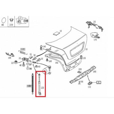 Original Mercedes-Benz Gasdruckdämpfer Satz für Heckdeckel S-Klasse 220